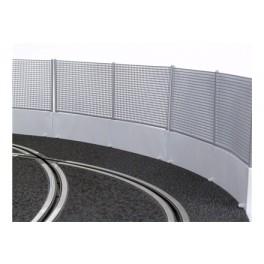 Muro de seguridad gris c/valla