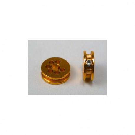 Polea aluminio 6,5 mm para eje 2.38