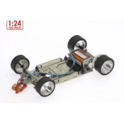 Chasis completo R4 acero escala 1/24