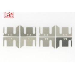 Separadores metálicos 0.25 mm p/soportes