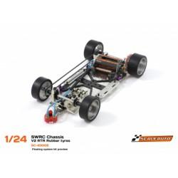 Chasis SWRC 1/24 V.2 RTR Acero 1,5mm montado