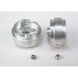 Llanta aluminio 20.5x10mm. eje 3mm. Aligerada