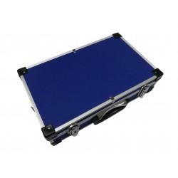 Maleta de aluminio color azul