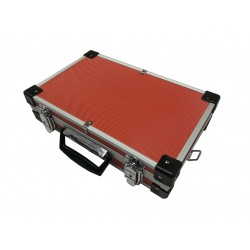 Maleta de aluminio color rojo