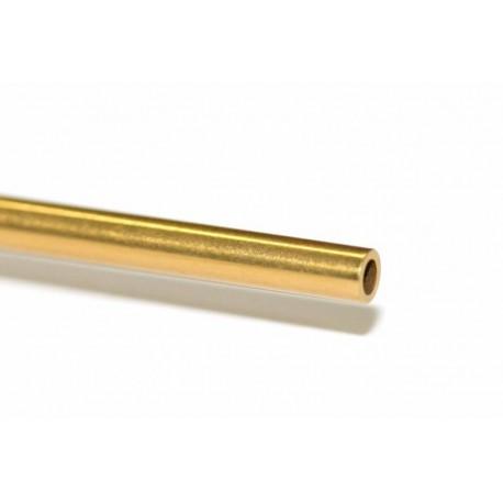 Eje 57,5 x 2.38mm acero hueco tratamiento de titanio