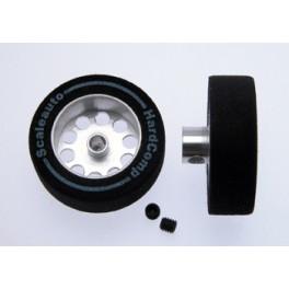 Rueda espuma 25,5X8 eje 3 mm Hardcomp